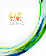 Business color swirl, minimal design template