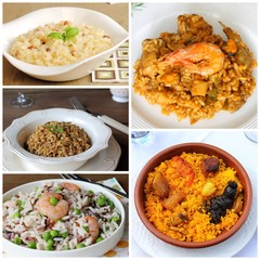 Rice recipes collage