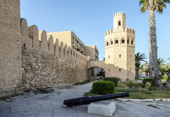 the walls of the city of Monastir in Tunisia.