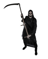 Grim reaper on a white background