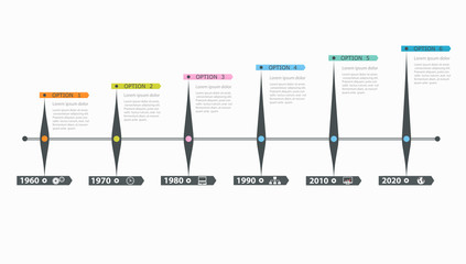 Timeline, infographics template with stepwise structure