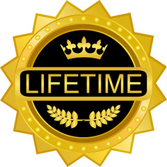 Lifetime Warranty Gold Badge