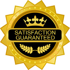 Satisfaction Guaranteed Gold Badge
