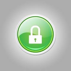 Unlock Circular Green Vector Web Button Icon