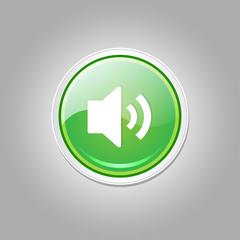 Voulme Circular Green Vector Web Button Icon