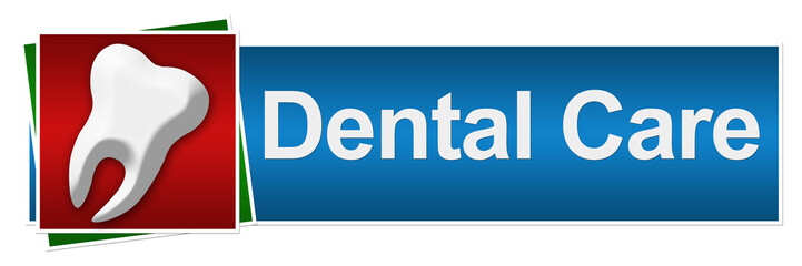 Dental Care Red Blue Green