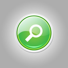 Search Circular Green Vector Web Button Icon