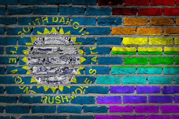 Dark brick wall - LGBT rights - South Dakota