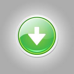 Down Key Circular Vector Green Web Icon Button