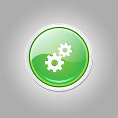 Settings Circular Vector Green Web Icon Button