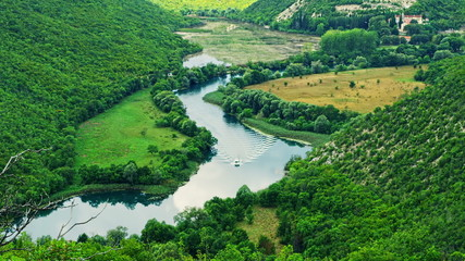 Krka river flow
