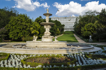 Royal palace park, Madrid