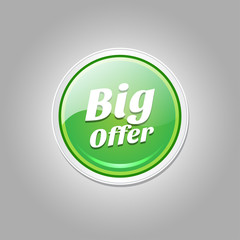 Big Offer Glossy Shiny Circular Vector Button