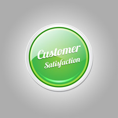 Customer Satisfaction Green Vector Icon
