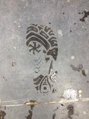 Fußabdruck mit Glückssymbol
