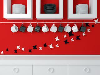 Modern kitchen design .