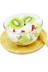Kiwi fruit yogurt healthy dessert