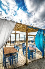 Greek tavern on beach