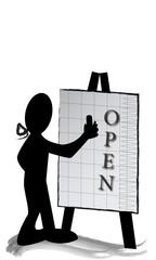 Open escrito en pizarra