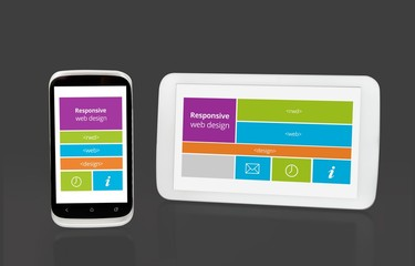 Responsive web design on mobile tablet and smart phone devices