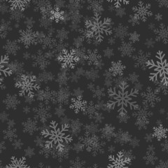 Snowflakes on dark background