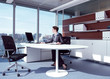 businesswoman working in her office az