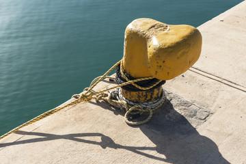 Schiffspoller am Meerhafen von Rethymnon, Kreta