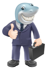 Business man shark