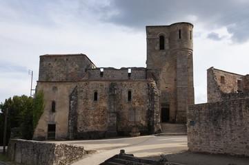 Ruine de l'église du village martyr d'Oradour-sur-glane