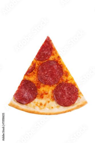 Fotobehang Restaurant pizza with sausage, salami, pepperoni for the menu
