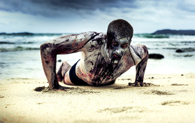 zombie on the beach