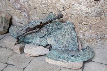 cloche fondue de l'église d'Oradour-sur-glane