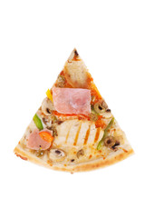 pizza with chicken, ham, grilled mushrooms, peppers for the menu