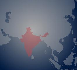 India Pixel Map