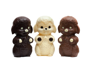 Three figures of delicious mixed chocolate