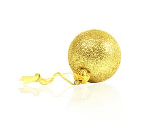 golden dull christmas ball