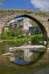 Sant Joan les Fonts medieval village, Catalonia, Spain