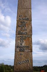 Stèle à l'entrée d'Oradour-sur-glane