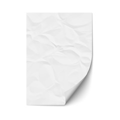 Sheet crumpled paper