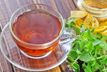 fresh tea in cup