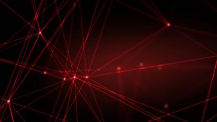 red light rays moving randomly on dark background