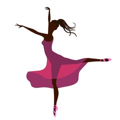 ballerina silhouette of girl