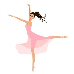 ballerina girl in a pink dress