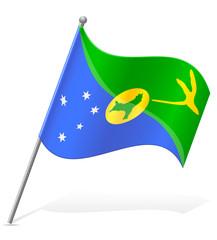 flag of Christmas Island vector illustration
