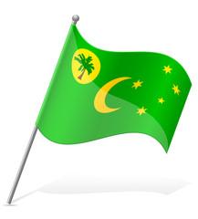 flag of Cocos Islands vector illustration