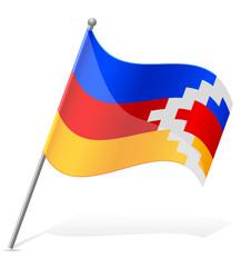 flag of Nagorno Karabakh Republic vector illustration