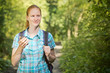 Woman on a Geo-caching Trip