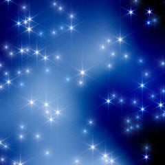 Christmas night sky, stars in the blur 11