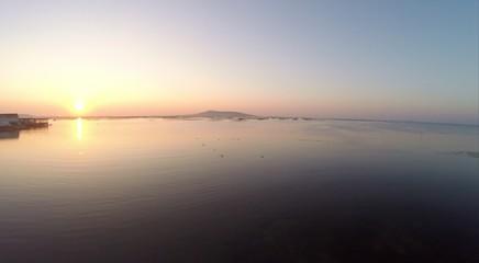 Étang de thau, lever de soleil