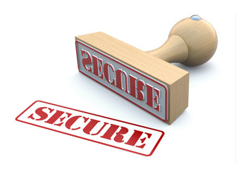 Rubber stamp-SECURE